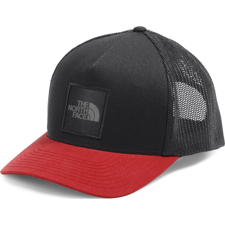 The North Face Keep It Structured Trucker Negro / rojo Gorras de béisbol