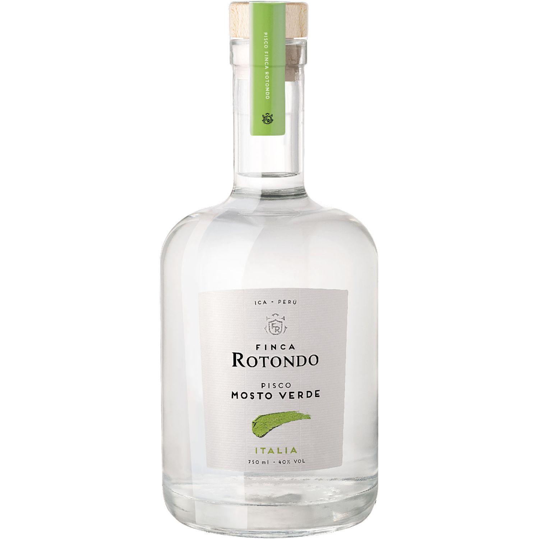 FINCA ROTONDO Pisco Mosto Verde Italia 750ml Transparente Brandy y aguardientes
