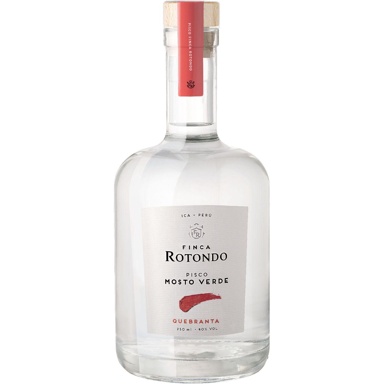 FINCA ROTONDO Pisco Mosto Verde Quebranta 750ml Transparente Brandy y aguardientes