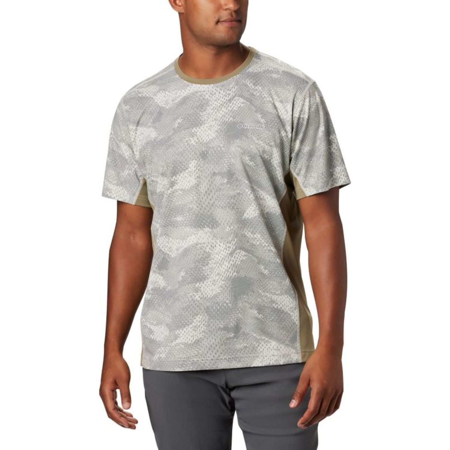 Columbia Solar Chill 2 Ss Gris Polos