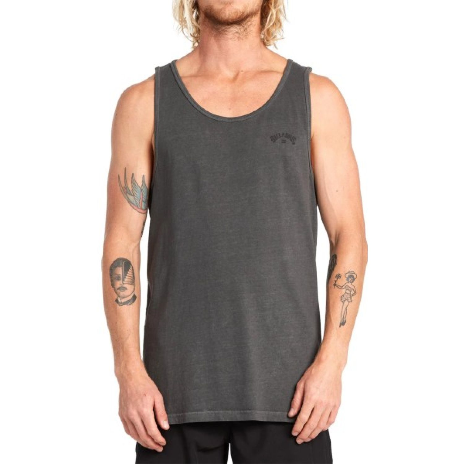 Billabong Arch Wave Tank Plomo Camisetas