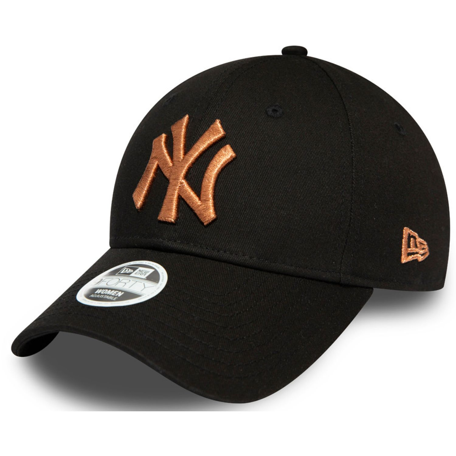 NEW ERA Wmns Metallic Logo 9forty Neyyan Blk Black Chullos y gorros