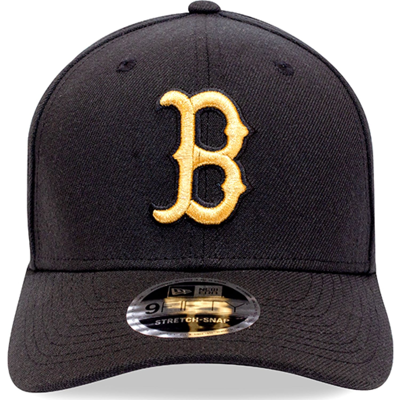 NEW ERA 950ss Bosred Blk Gld Negro Gorras de béisbol