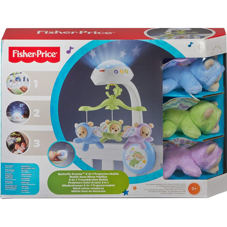 Fisher Price F-P Móvil 3 En 1 Sueños De Mariposa Varios Formas y colores