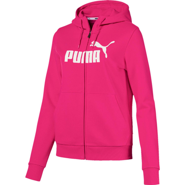 Puma Ess Logo Hooded Jacket Fl Fucsia Casacas deportivas
