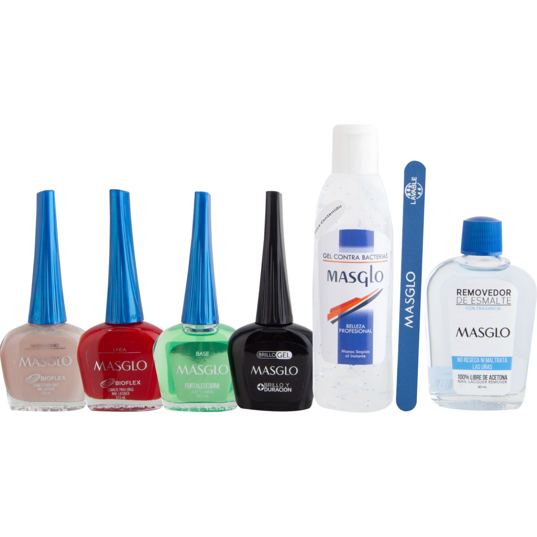 MASGLO Kit Manicure Express En Casa Varios Etiquetas y calcomanías