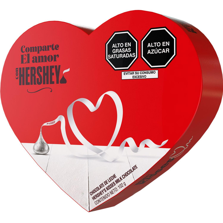 HERSHEY'S Kisses Corazon Rojo Chocolate C/Leche 102 Gr Sin color Regalos de dulces y chocolate