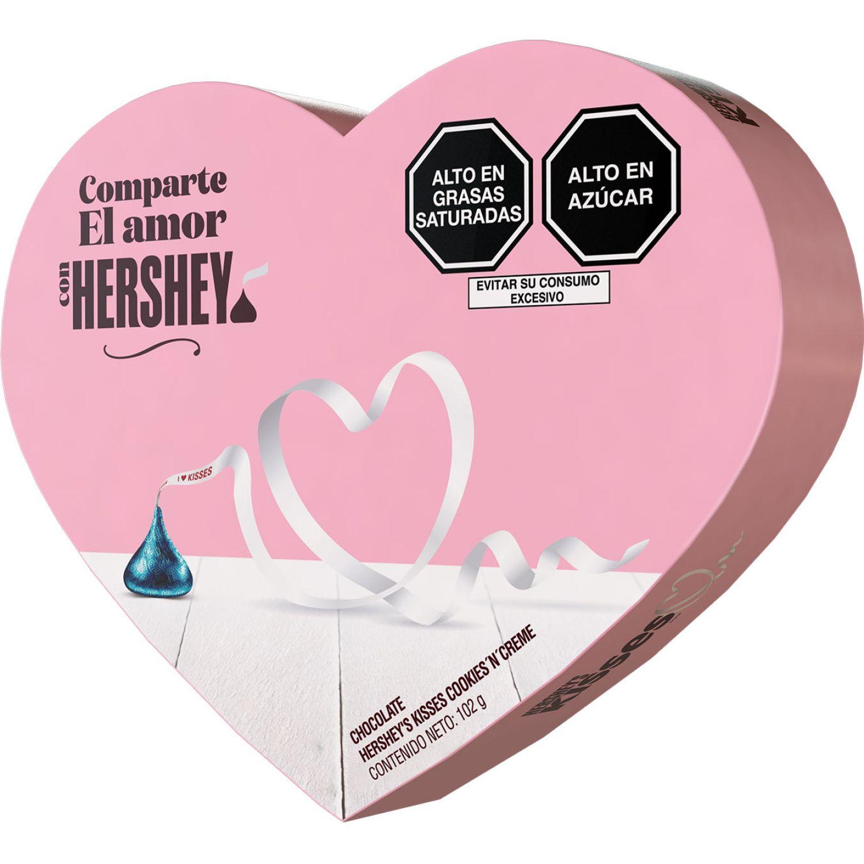 HERSHEY'S Kisses Corazon Rosado Cookies N Creme 102gr Sin color Regalos de dulces y chocolate