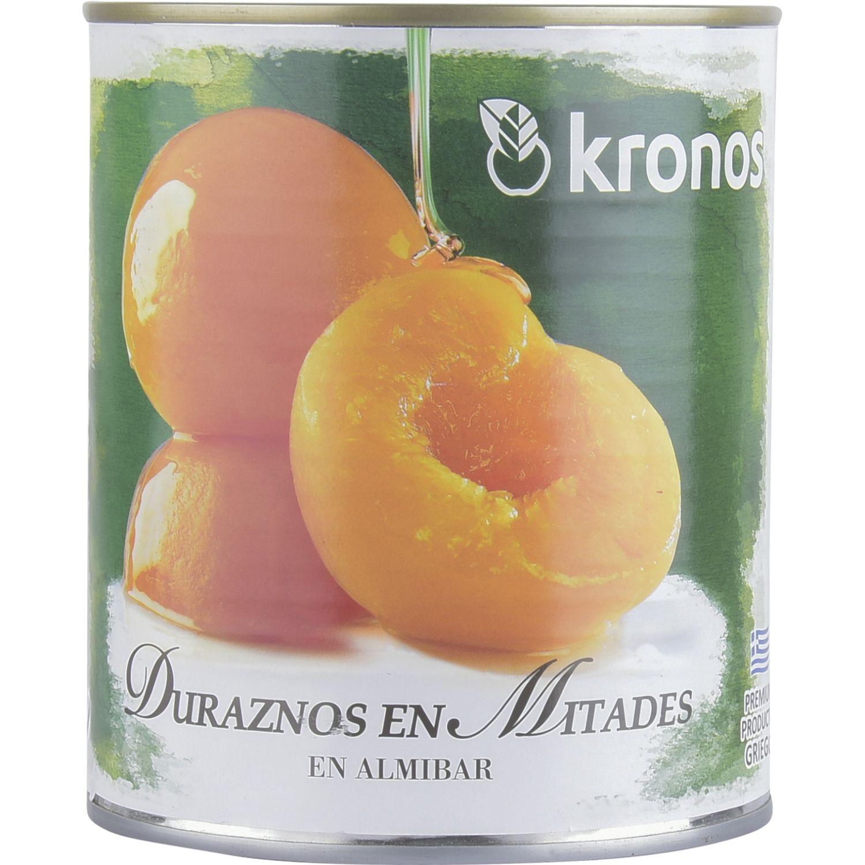 KRONOS Duraznos En Mitad Lata 820g Sin color Piña