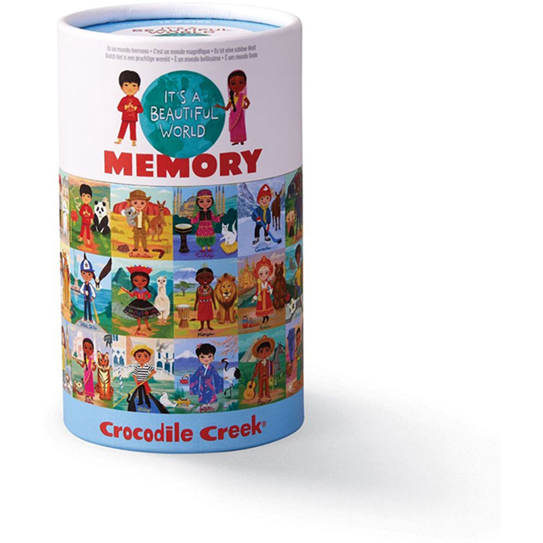 CROCODILE CREEK Juego Memoria Es Un Mundo Hermoso MULTICOLOR Rompecabezas 3-d