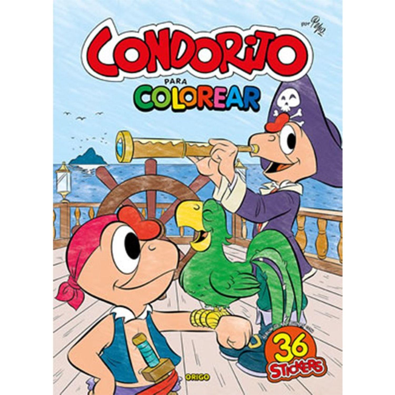 ORIGO Condorito Para Colorear (Piratas) Sin color Libros para colorear