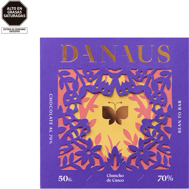 DANAUS Chocolate 70 % Cacao Chuncho De Cusco Chocolate Regalos de dulces y chocolate