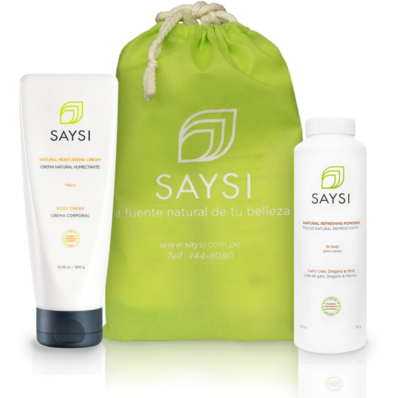SAYSI Pack Saysi Talco Natural Refrescante + Crema Natural Humectante Varios Sets y kits