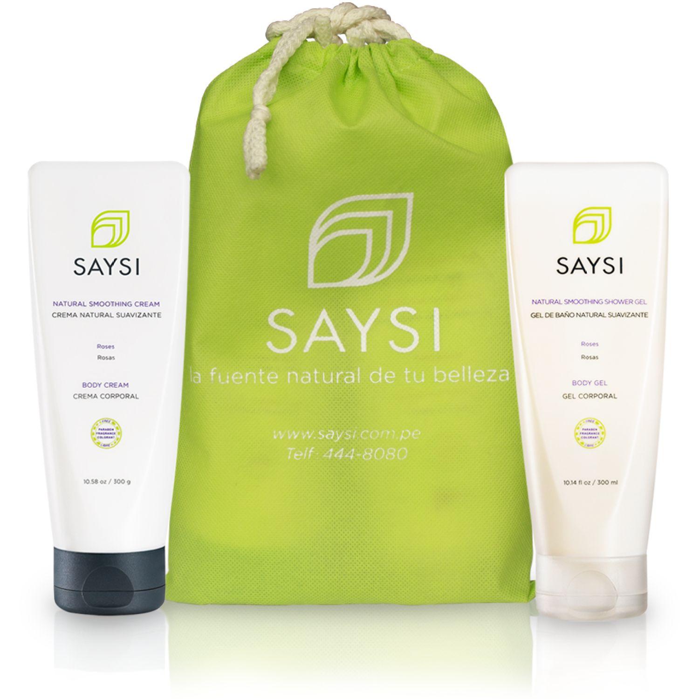SAYSI Pack Saysi Gel De Baño + Crema Natural Suavizante ROSAS Sets y kits