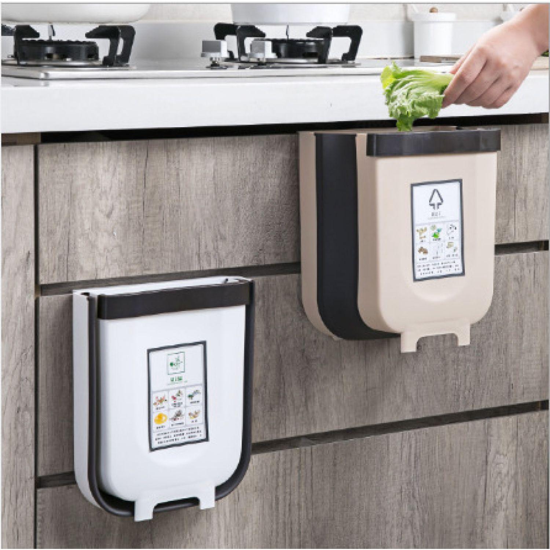 Platanitos Life Tacho Plegable M A5 Blanco Botes de basura para la cocina