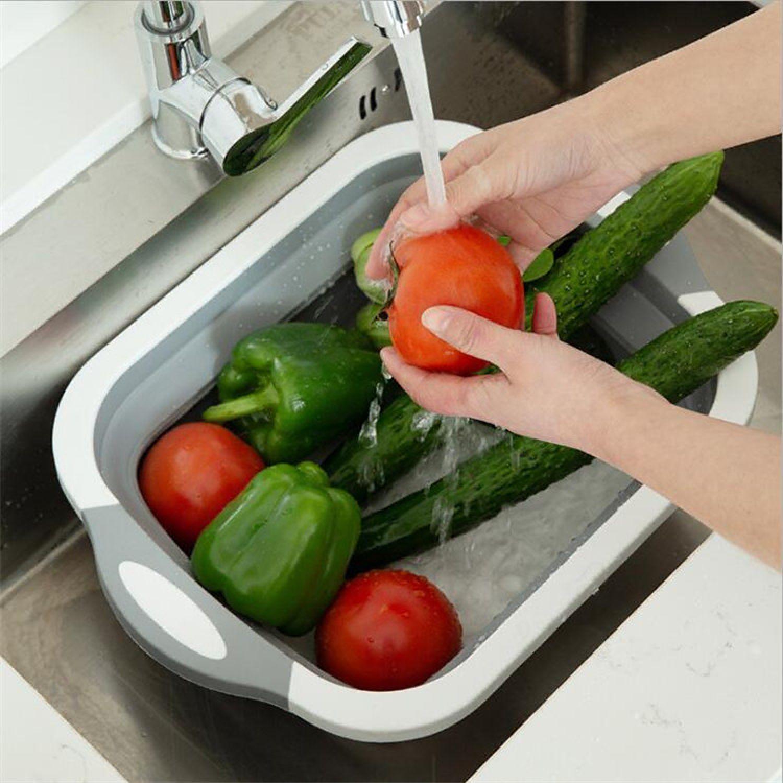 Platanitos Life Tabla De Cocina Plegable A40 Blanco / gris Tablas para cortar