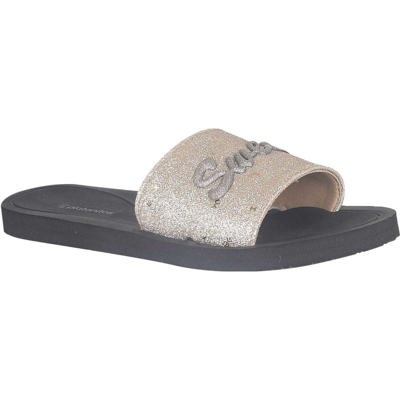 Platanitos Sandalias Dama Sf 601 Dorado Slides
