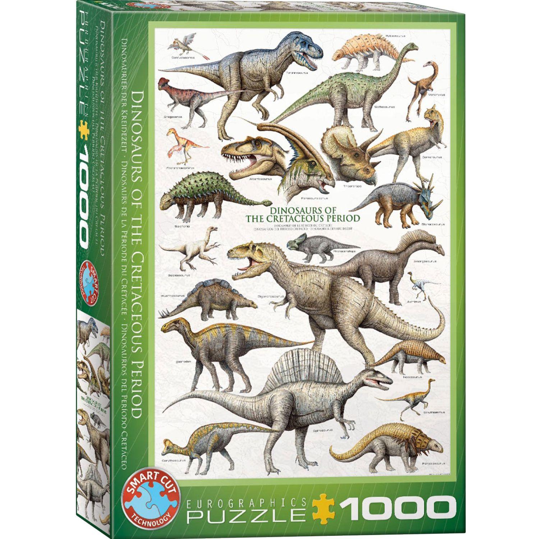 EUROGRAPHICS Dinosaurs Cretaceous Varios Rompecabezas 3-d