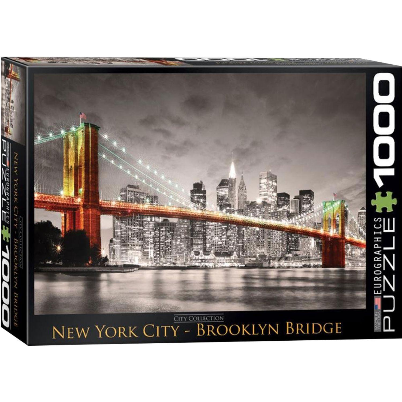 EUROGRAPHICS New York City Brooklyn Bridge^ Varios Rompecabezas 3-d