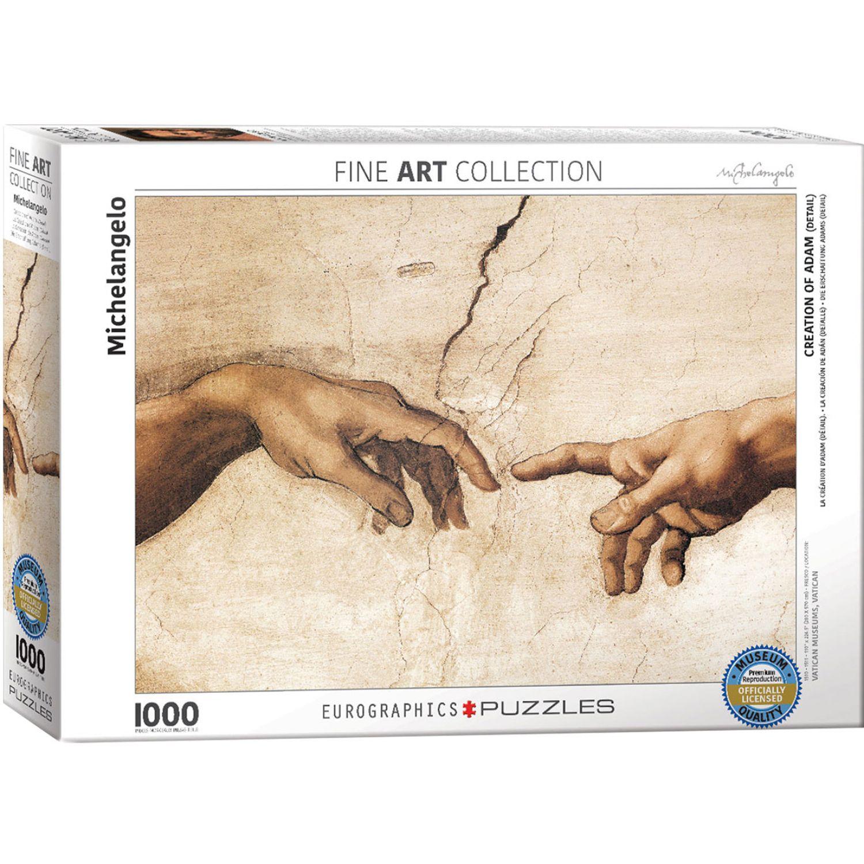 EUROGRAPHICS Creation Of Adam By Michelangelo Varios Rompecabezas 3-d