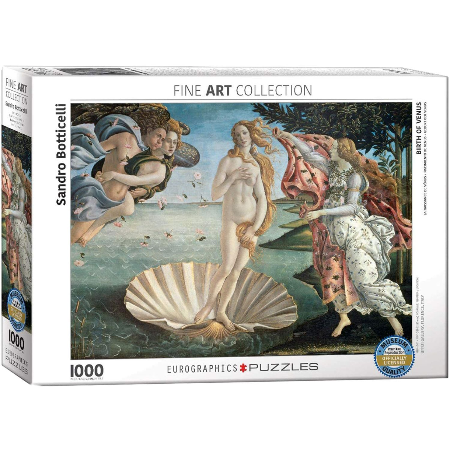 EUROGRAPHICS Birth Of Venus By Sandro Botticelli Varios Rompecabezas 3-d