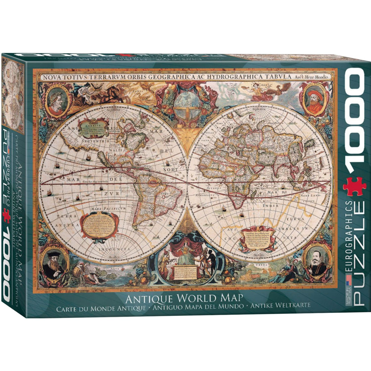 EUROGRAPHICS Antique World Map (Orbis Geographica) Varios Rompecabezas 3-d