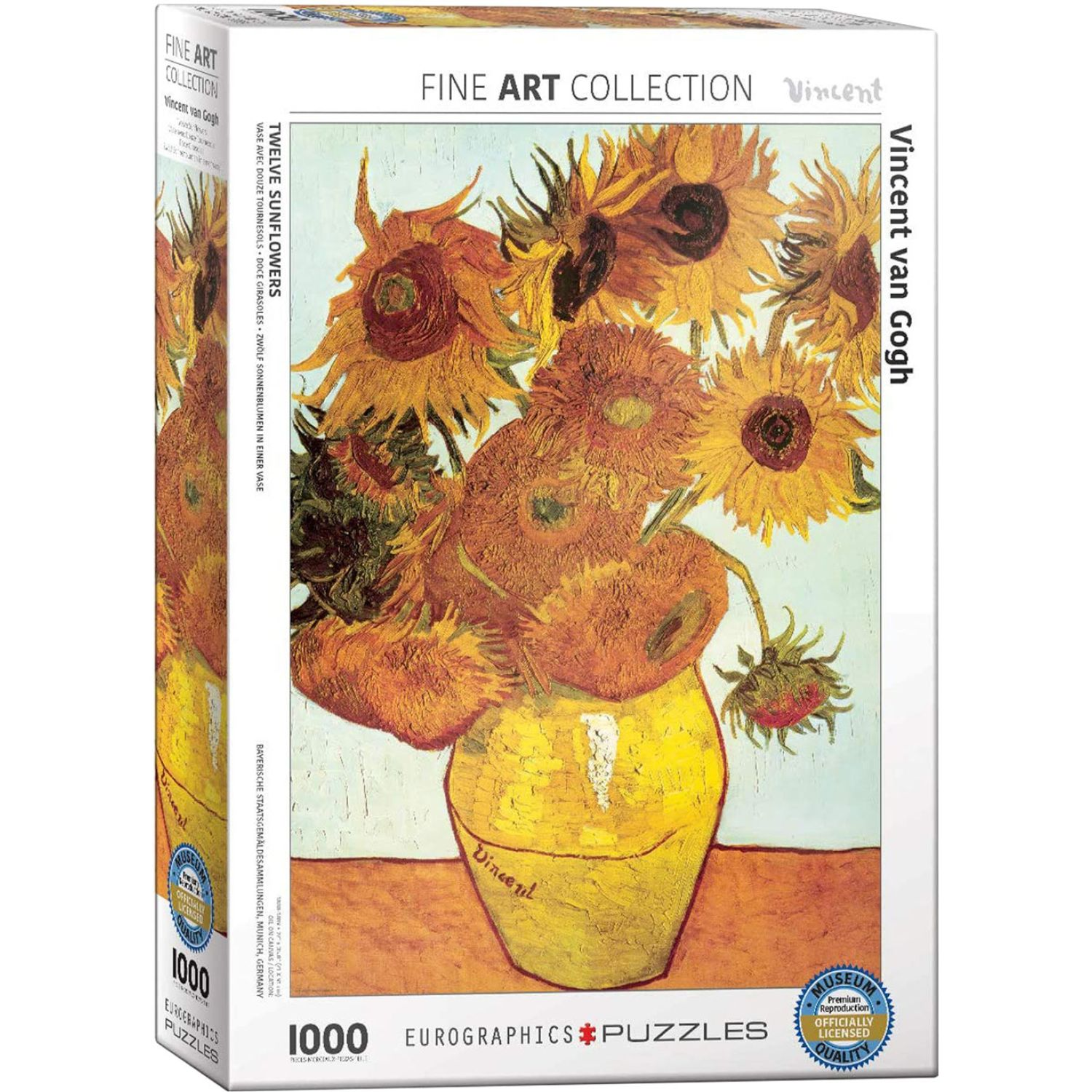EUROGRAPHICS Twelve Sunflowers By Vincent Van Gogh Varios Rompecabezas 3-d