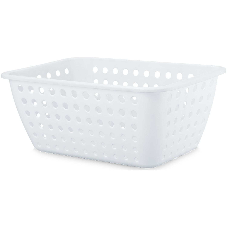 REY PLAST Canastilla Olenka 14.3 L Blanco Canastos