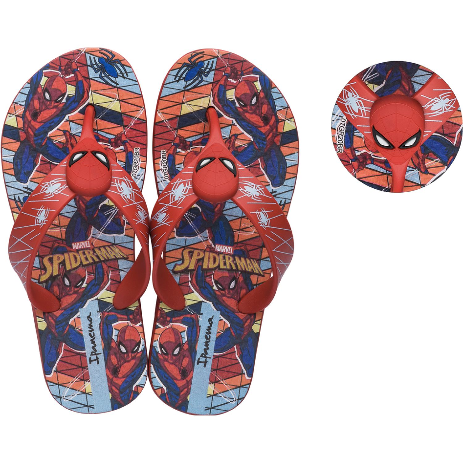 Spiderman Sandalia Spiderman Mod2 Vr21 Rojo Sandalias