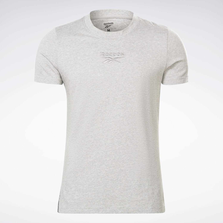 Reebok Te Melange Ss Tee Plomo Camisetas y polos deportivos