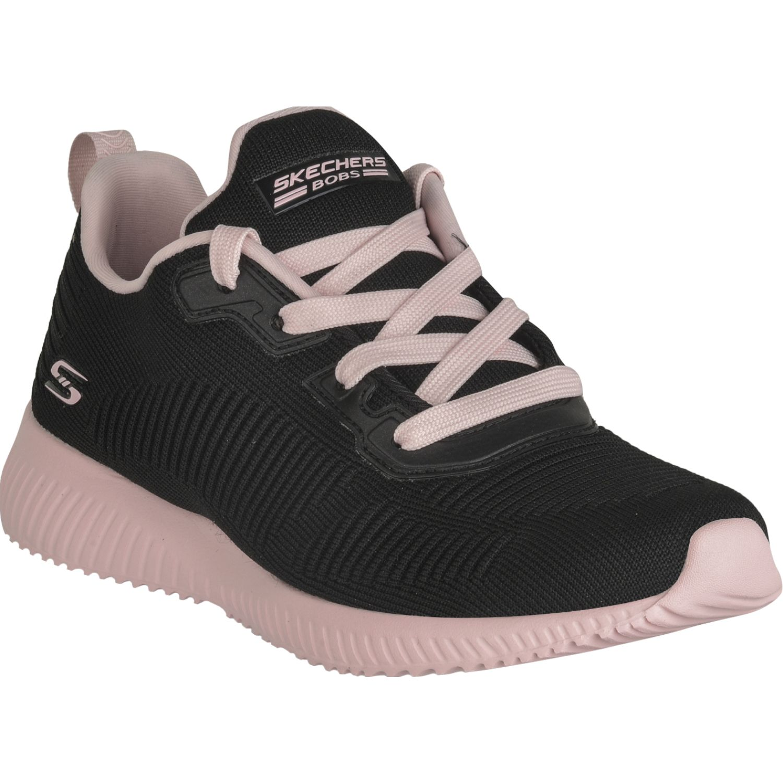 Skechers Bobs Squad Negro / rosado Para caminar
