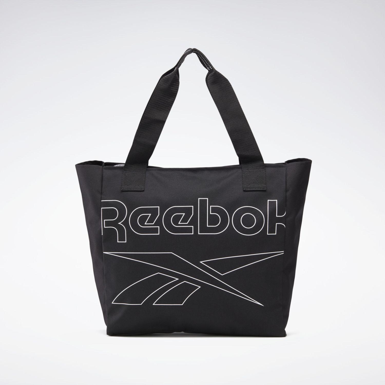 Reebok Womens Essentials Tote Negro Bolsas con cordón para fans de deportes