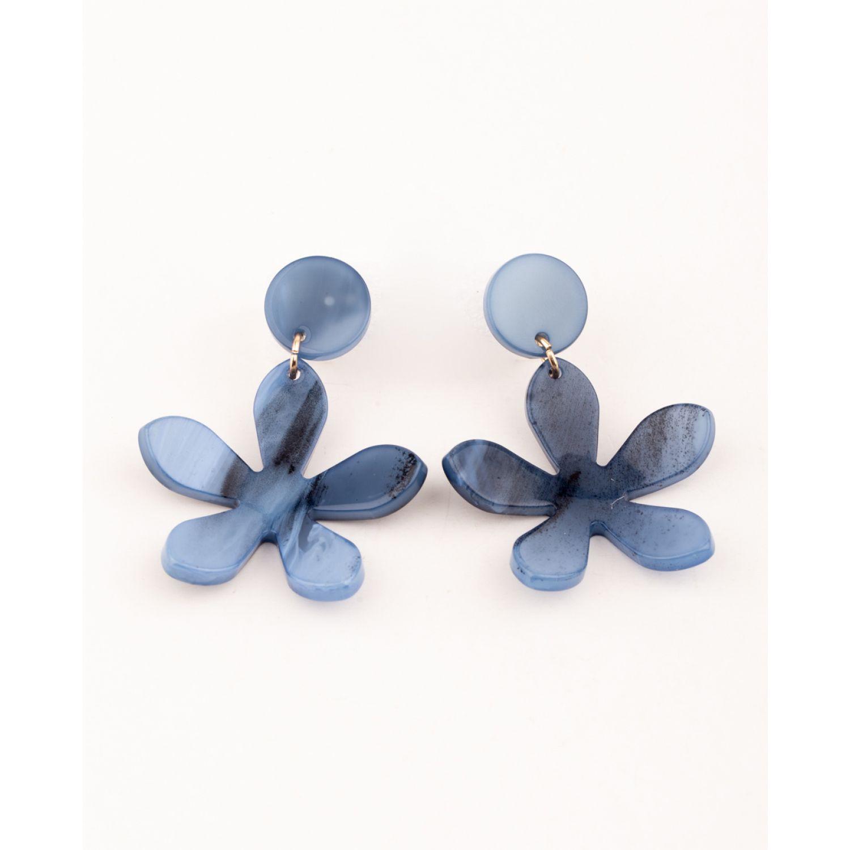 BE SIFRAH Aretes Zulai Azul Aretes de botón