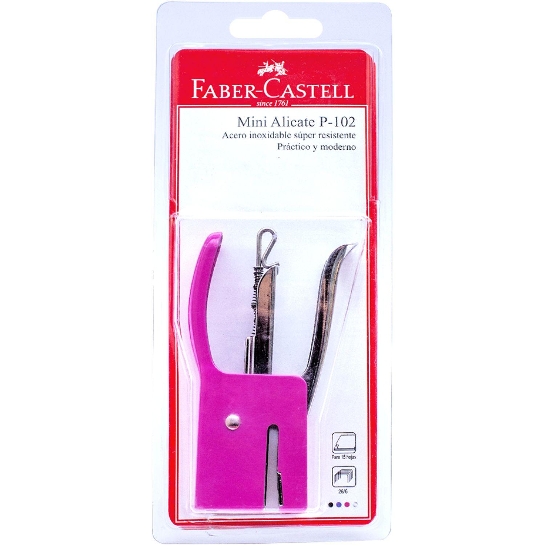 FABER CASTELL Engrapador Alicate Mini P102 Rosax1 Rosado Grapadoras de sobremesa