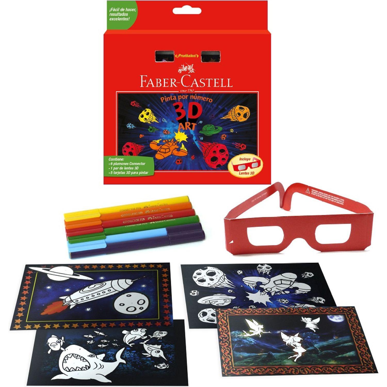 FABER CASTELL Set Pinta Por Numero 3d Art 155081 Varios Habilidades básicas