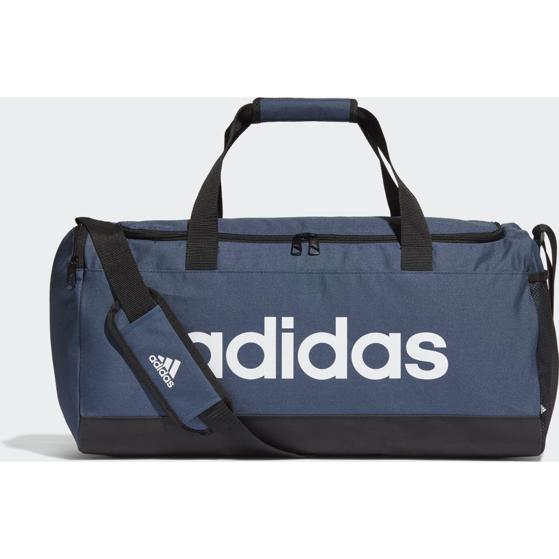adidas Linear Duffel M Azul / negro Bolsos de gimnasio