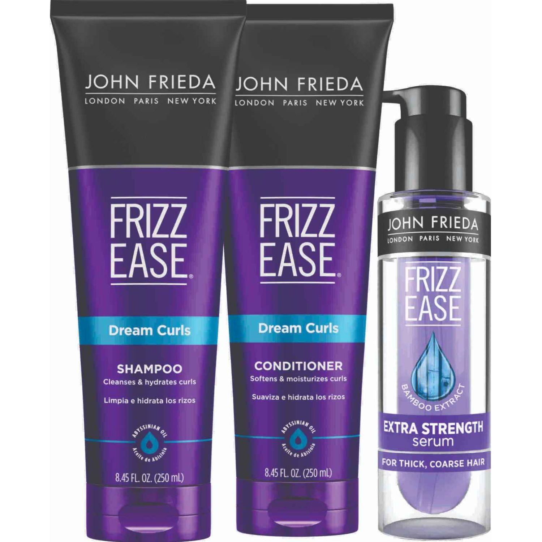 JOHN FRIEDA Tripack Rizos Soñados + Suero Azul Shampoo de diario