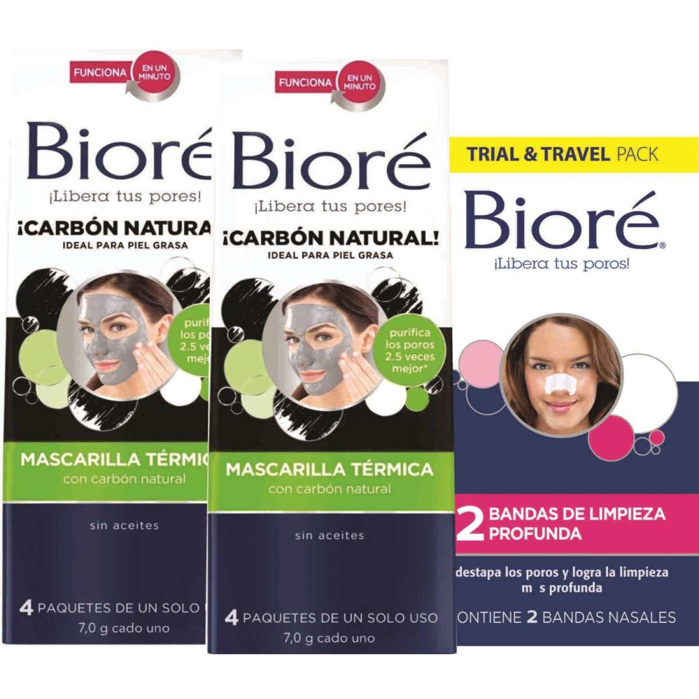 BIORE Pack Biore Mascarilla + Bandas Blanco / negro Mascarillas