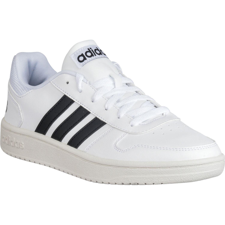Adidas Hoops 2.0 Blanco / negro Para caminar