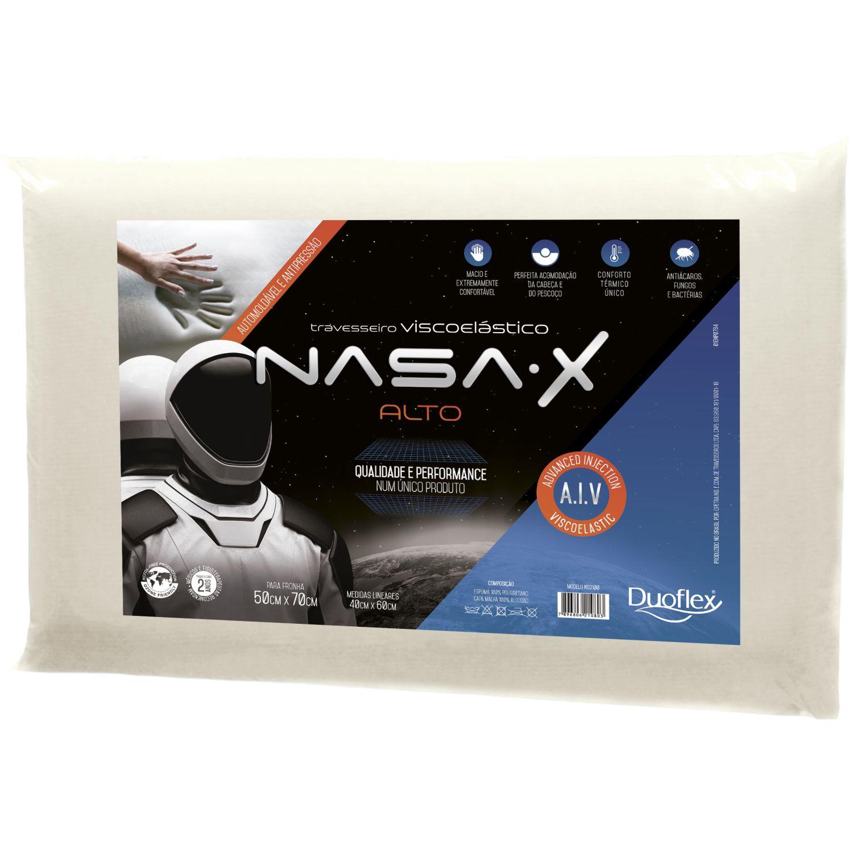 Duoflex Nasa X Alto Blanco Almohadas