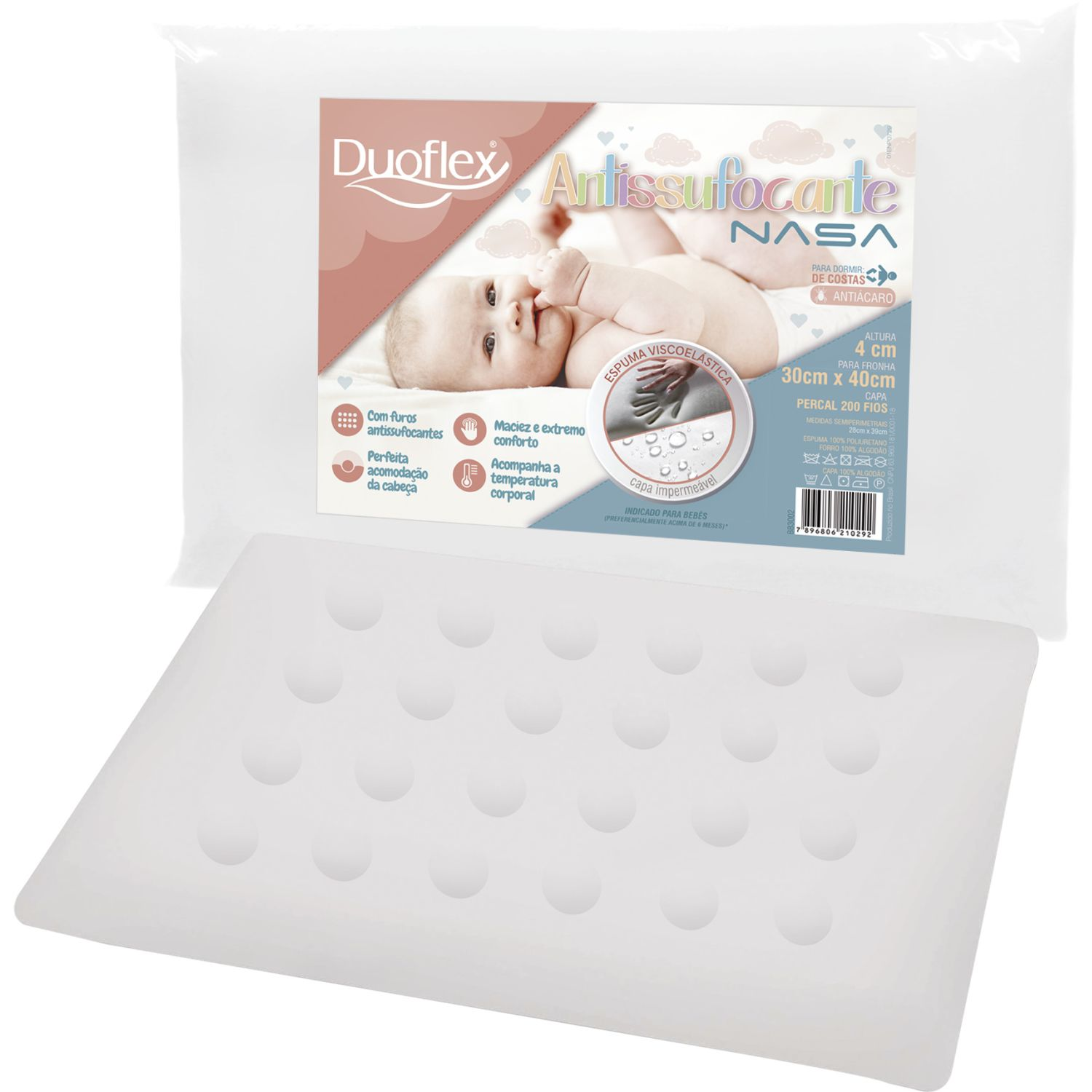 Duoflex Anti-Suffoctante Nasa Blanco Almohadas