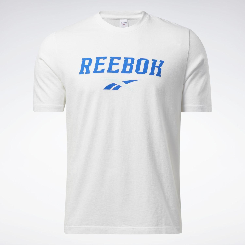 Reebok Cl Soft Edge Linear Tee Blanco / celeste Camisetas y polos deportivos