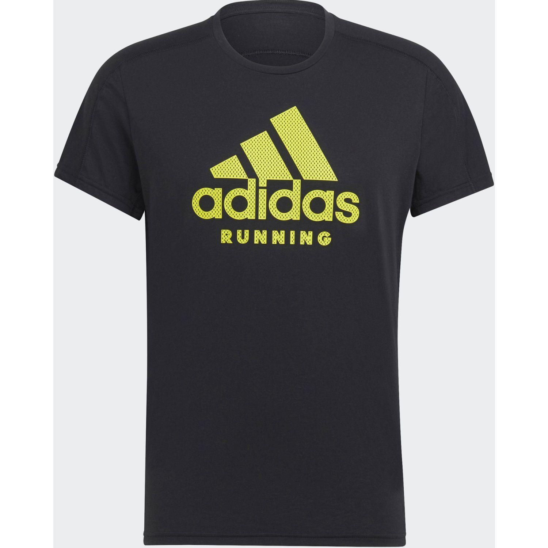 adidas Run Logo Tee M Negro / verde Camisetas y polos deportivos