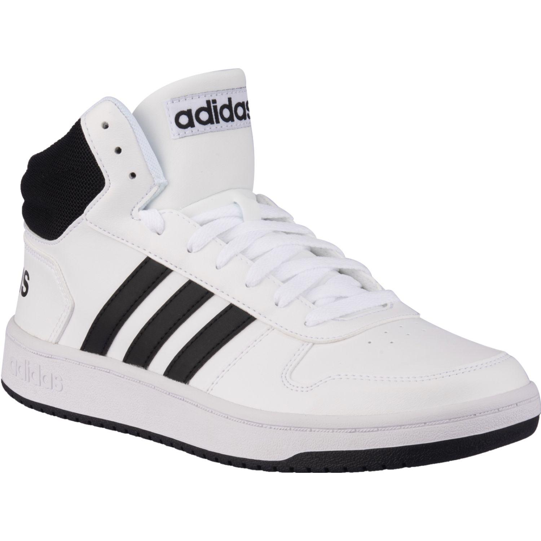 adidas Hoops 2.0 Mid Blanco / negro Hombres