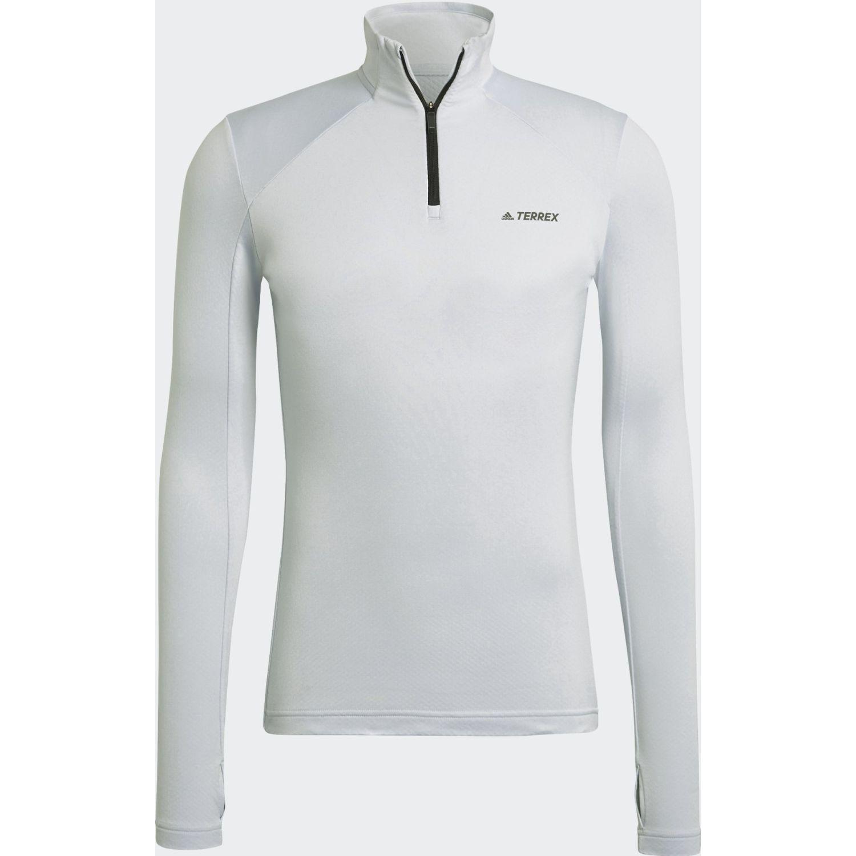 Adidas W Multi 1/2 Fl Celeste Hoodies deportivos