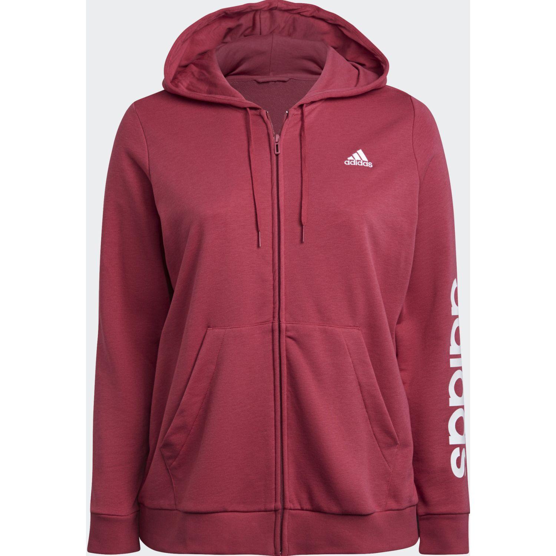 Adidas W Lin Ft Fz Hd Rosado Casacas deportivas