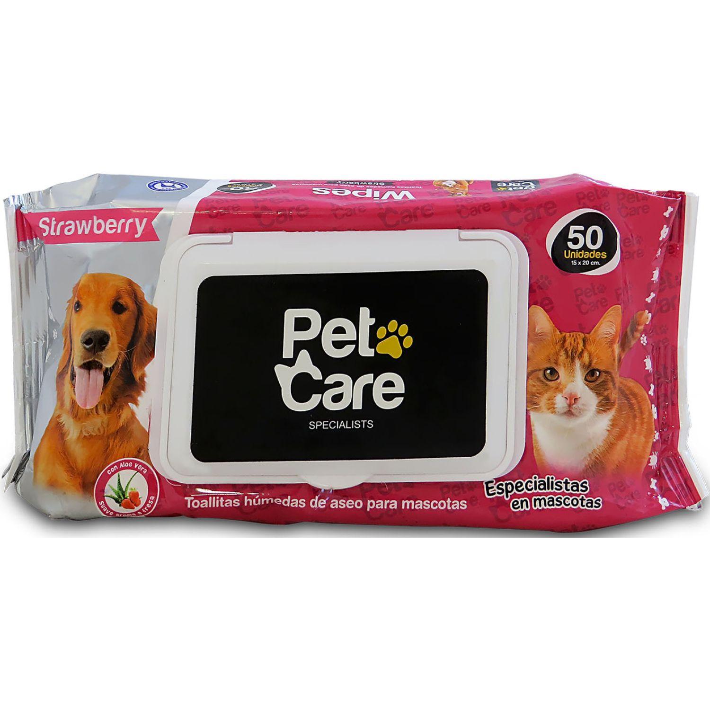 PET CARE Pet Care Toallas Humedas X 50und Strawberry Varios Toallitas de aseo