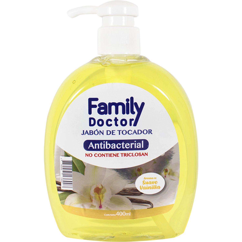 FAMILY DOCTOR Jabón Líquido Antibacterial 400 Ml – Suave Vainilla Varios Jabones