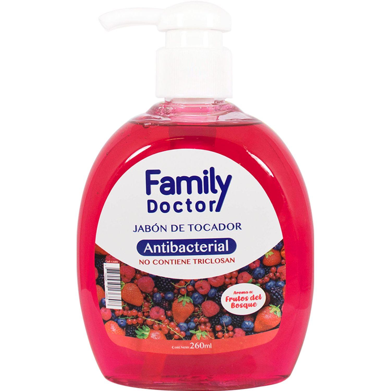 FAMILY DOCTOR Jabón Líquido Antibacterial 260 Ml - Frutos Del Bosque Varios Jabones