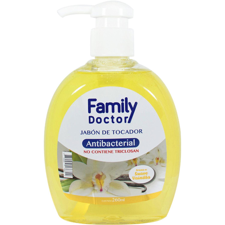 FAMILY DOCTOR Jabón Líquido Antibacterial 260 Ml – Suave Vainilla Varios Jabones